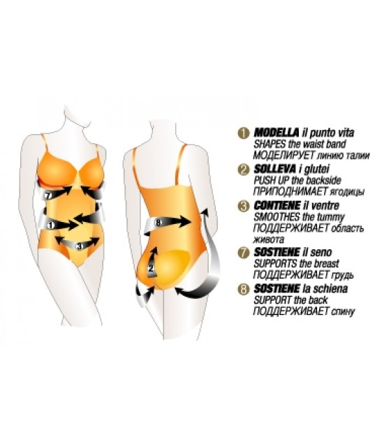 CONTROLBODY BODY GOLD SKIN  L/XL COMPREESSIONE FORTE