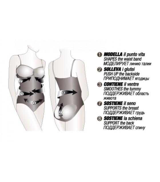 CONTROLBODY BODY COMPRESSIONE FORTE NERO S/M