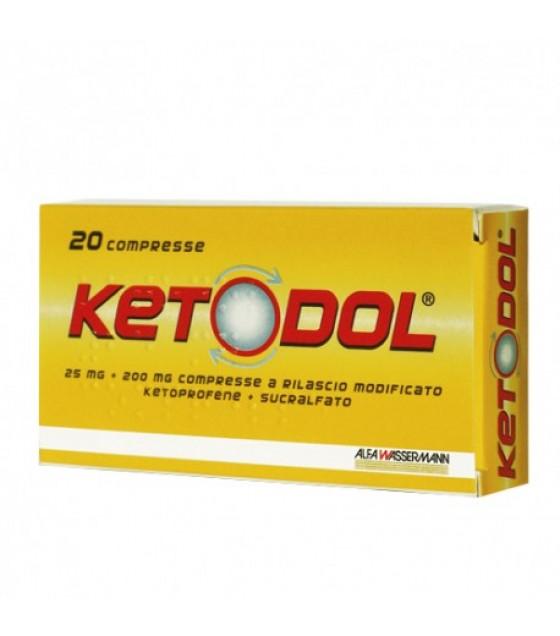 Ketodol*20cpr 25mg+200mg Rm