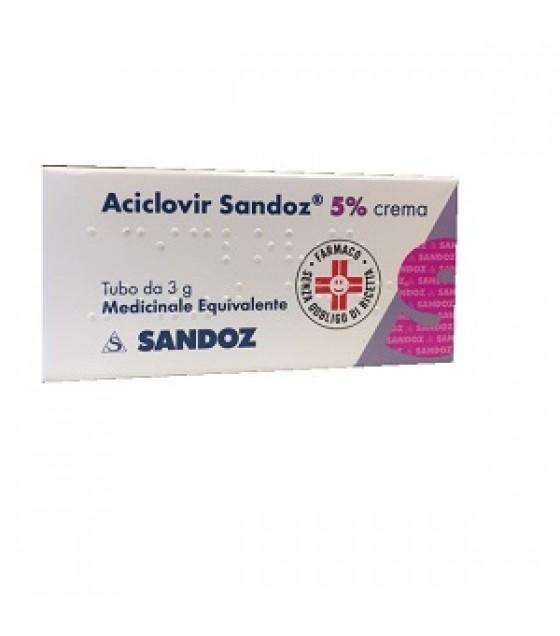 Aciclovir Sand*crema 3g 5%